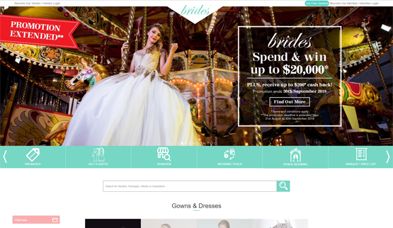 Blissful Brides Magazine Singapore website